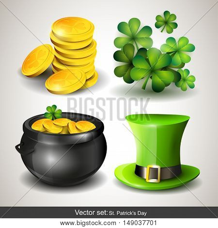 Set of four St Patrick's Day icons