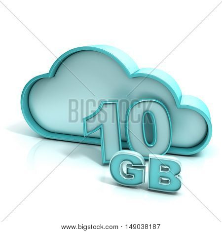 Cloud Computing And Database. 10 Gb Capacity