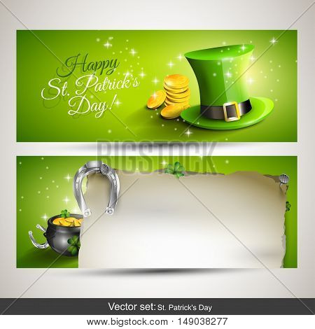 St. Patrick's Day - Set of two horizontal banners