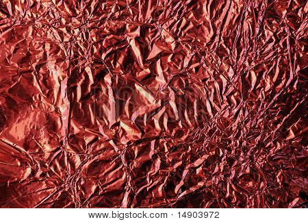 Wrinkled Red Foil