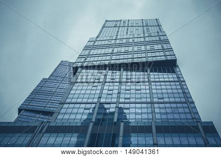 Moscow, Russia - September 13, 2016: Modern glass skyscrapers in the Business center