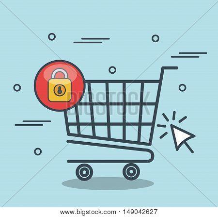 security shopping online desing vector illustration eps 10