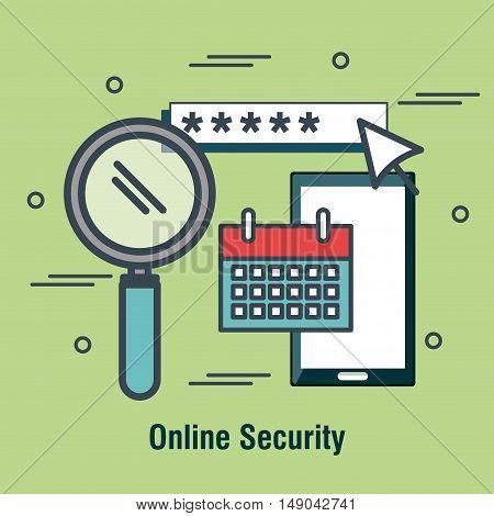 internet shopping security design vector illustration eps 10
