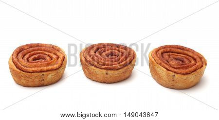 Cinnamon Rolls Isoalted On A White Background