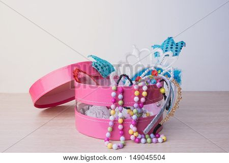 Little Girl Accessories Lifestyle Set In A Pink Box.