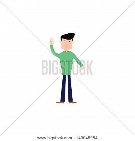 hi green man of vector EPS 10
