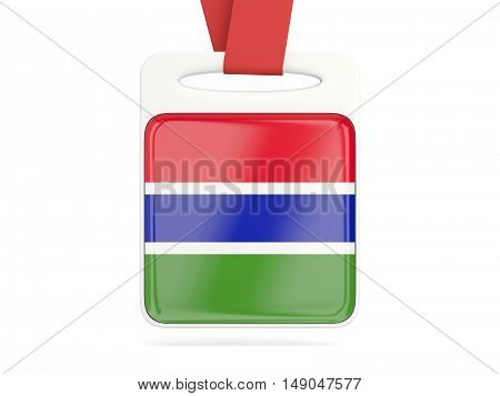 Flag Of Gambia, Square Card