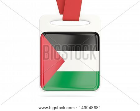 Flag Of Palestinian Territory, Square Card
