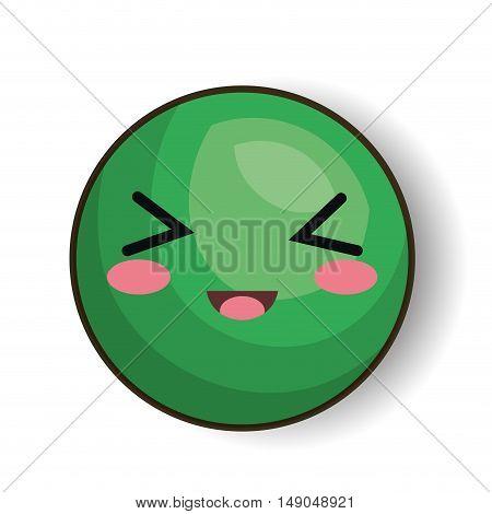 excited emoji green design vector illustration eps 10