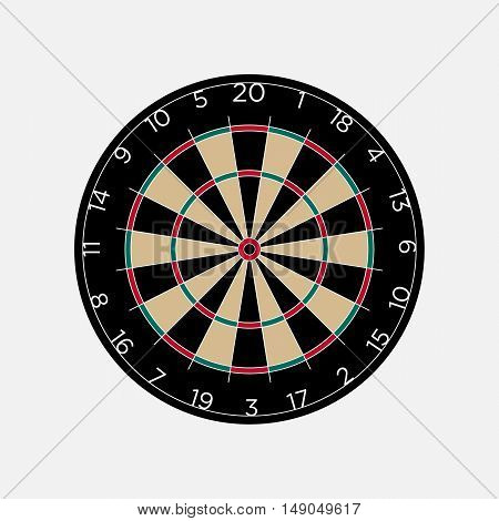 Classic dartboard isolated on white background vector illustration