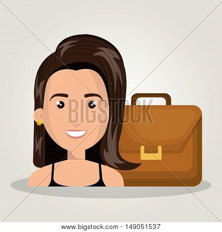 character woman business portfolio design graphic vector illustration eps 10