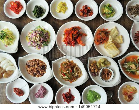 Banchan, which means