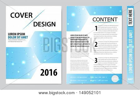 book cover presentation design abstract geometric white background