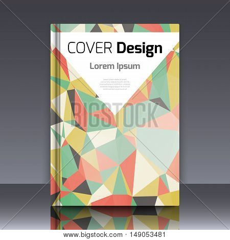 Abstract background with colorful triangles and space for text. Texture for covers, banners, booklets, etc. For web or printed media.