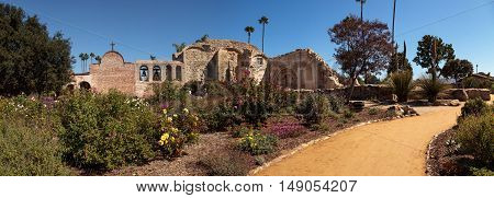 San Juan Capistrano, CA, USA --September 25, 2016: The Mission San Juan Capistrano in Southern California, United States. Editorial use only.
