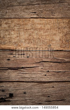 Ruined natural wooden background, a blank space for text