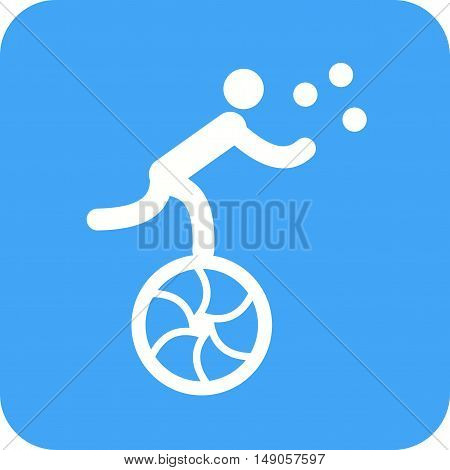 Juggling, juggler, balls icon vector image. Can also be used for circus. Suitable for use on web apps, mobile apps and print media.