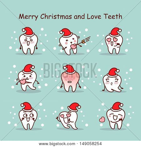 merry christmas and love teeth great for your design