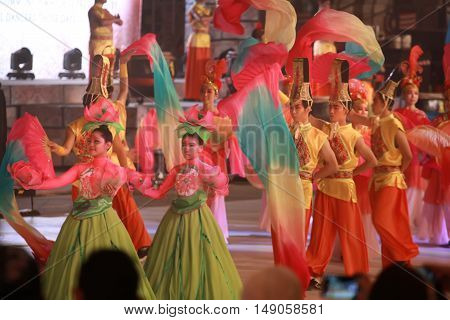 Kuala lumpur 25 September 2016 Citra Warna Malaysia was held at Dataran Merdeka. Performers doing their ceograph dance move on the stage.