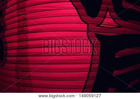 Japanese paper lantern, close up. Tokyo 2016