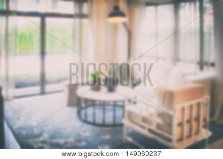 Blurred background interior living room with decorative lamp