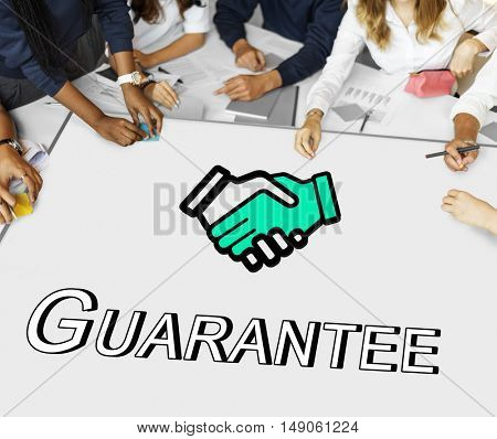 Trust Handshake Partnership Cooperation Graphic Concept