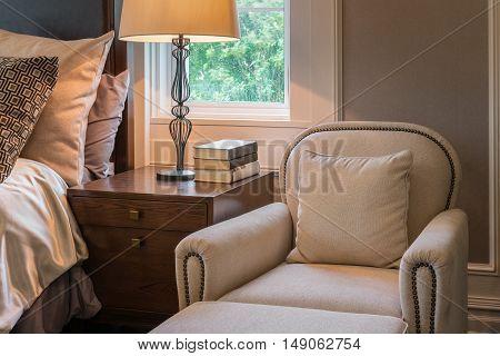 Luxury Sofa In Classic Style Bedroom Interior