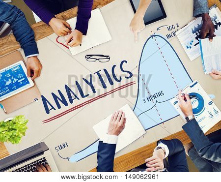 Analytics Report Progress Strategy Concept