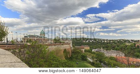 A view of Buda Castle in Budapest