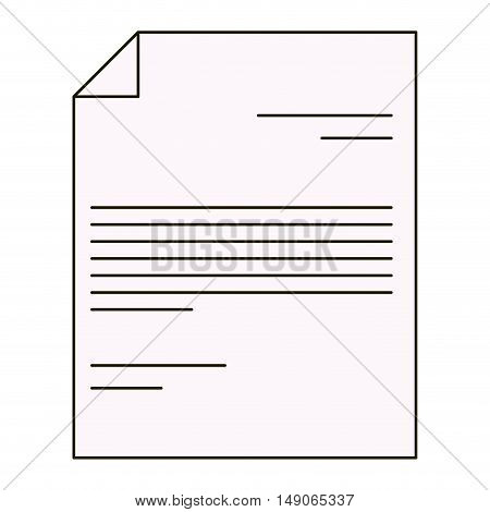 Piece of Paper icon. Document and data theme. Isolated design. Vector illustration