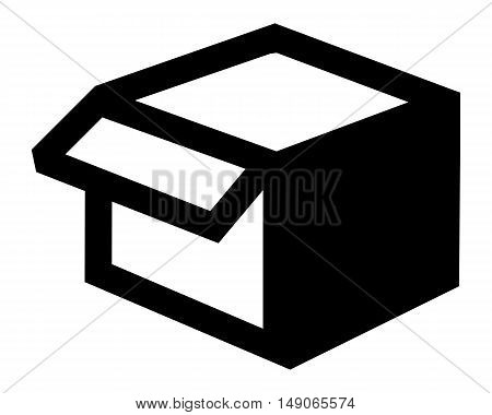 Open box icon packaging design parcel mail empty