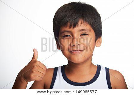 Thumb Up Of Boy