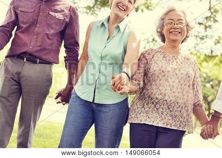 Diversity Friendship Older Elderly Pensioner Concept
