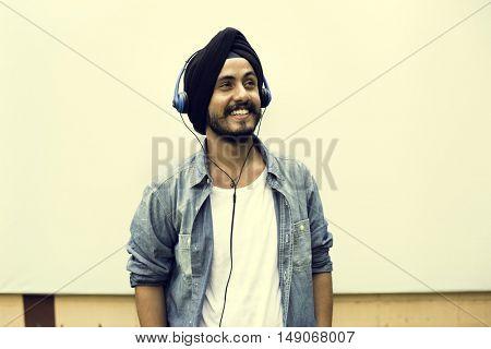 Indian Teen Boy Smiling Portrait Concept
