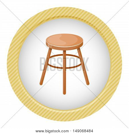 Chair vector colorful icon. Vector illustration in cartoon style