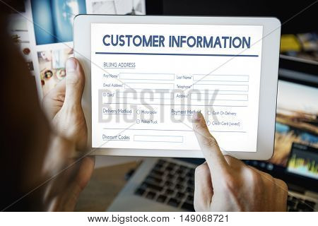 Invoice Billing Information Form Graphic Concept
