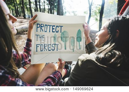 Protect Forest Environmental Conservation Nature Concept