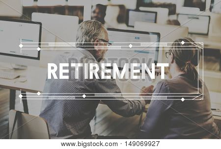 Retirement Earning Savings Senior Wealth Concept