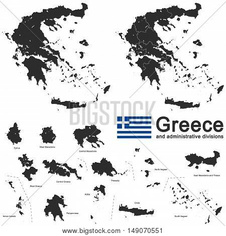european country Greece and administrative divisions in details
