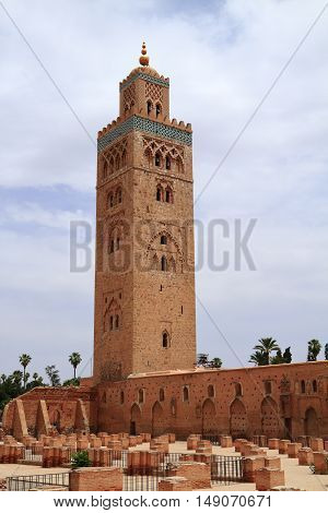 The Koutoubia Mosque in Marrakesh Morocco, Africa