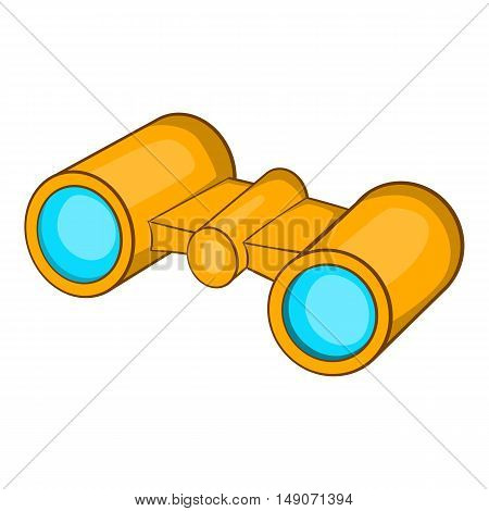 Binoculars icon in cartoon style isolated on white background. Watch symbol vector illustration
