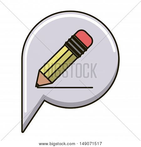Pencil icon. Write tool school and office theme. Isolated design. Vector illustration
