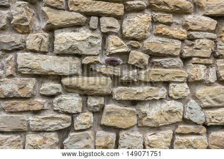 Stone wall exterior background with good texture.