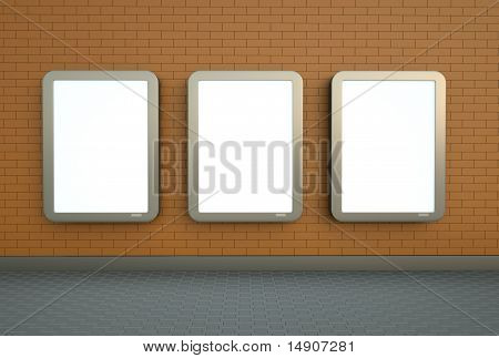 Three wall banners