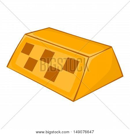 Checker taxi icon in cartoon style isolated on white background. Transportation symbol vector illustration