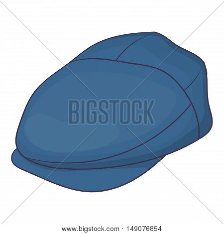 Cap driver icon in cartoon style isolated on white background. Headwear symbol vector illustration