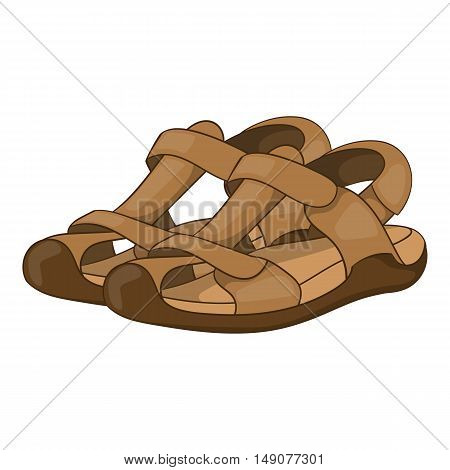 Sandals icon in cartoon style isolated on white background. Wear symbol vector illustration
