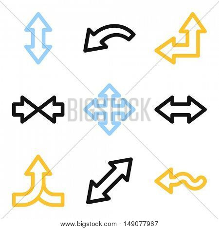 Arrows mobile icon, next step vector web sign. Business infographics symbols.
