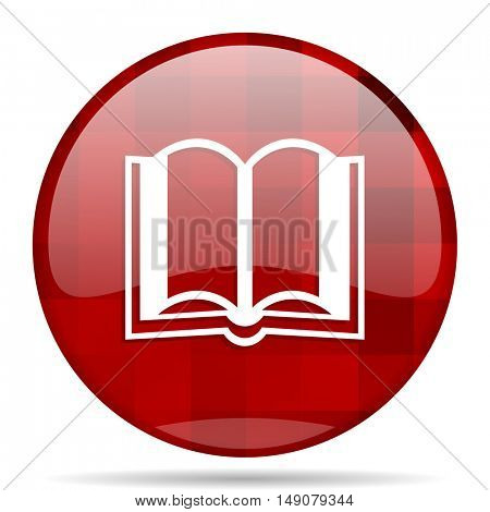 book red round glossy modern design web icon