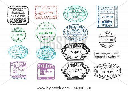 Various Passport Stamps